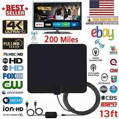 2018 NEW HDTV ANTENNA BEST 200 MILES LONG RANGE LESOOM INDOOR TV DIGITAL 4K
