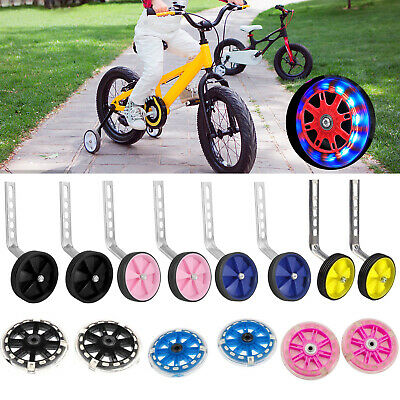 "Universal Kids Bike Bicycle Stabilisers Flashing Training Wheels Child 12~20"" UK"