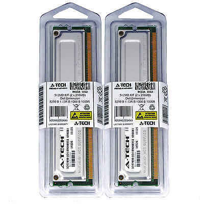 512MB KIT 2 x 256MB Dell Dimension 8250 B 1.13R 1000 1000R 1130 Ram Memory Dell 512 Mb Memory