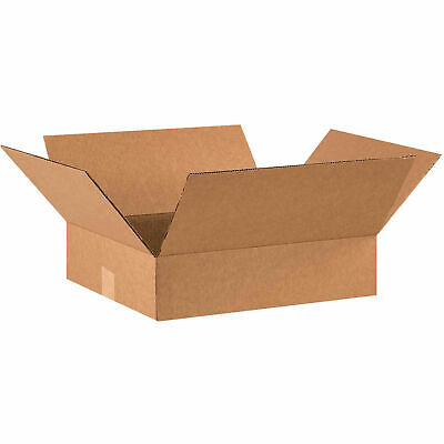 16 X 14 X 4 Flat Cardboard Corrugated Boxes 65 Lbs Capacity Ect-32 Lot Of