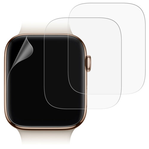 JETech Screen Protector for Apple Watch Series 4 (44mm) TPU Film Clear 3-Pack