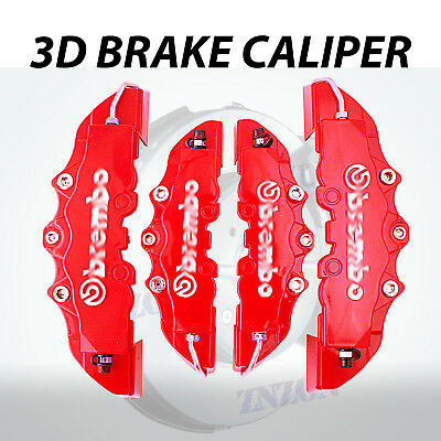 4pcs Red 3D Disc Brake Caliper Covers Kit For Acura TL 16-18 inch wheels