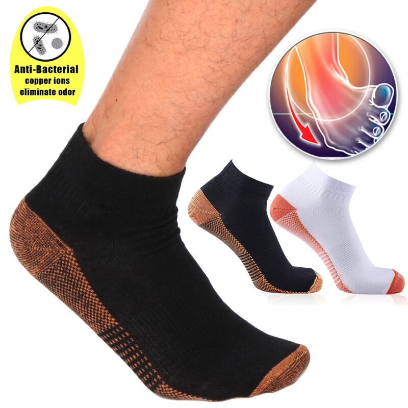 1-3Pair Compression Socks Ankle Support Foot Sleeves Plantar