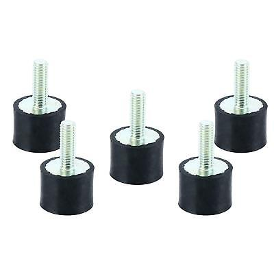 5pc M6 Thread Single End Rubber Shock Absorber Vibration Isolator Mount Us Ship