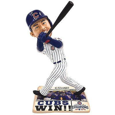 2016 World Series Champions Chicago Cubs Kris Bryant  Bobblehead Newspaper Base
