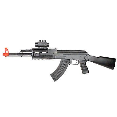 BBTac CM022 Black AK47 Airsoft Gun Electric Rifle AEG Full Auto Spring Magazine Auto Electric Rifle Magazine