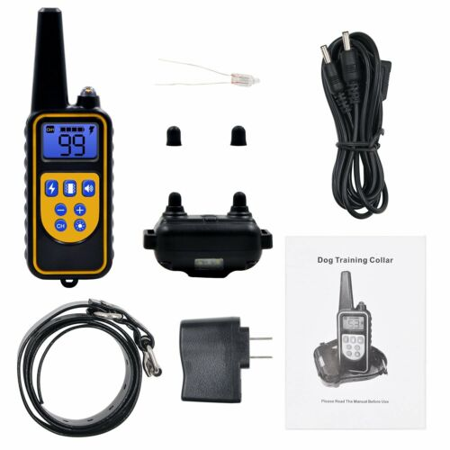 Dog Shock Training Collar Rechargeable Electric Remote Waterproof 875 Yards US - $0.99