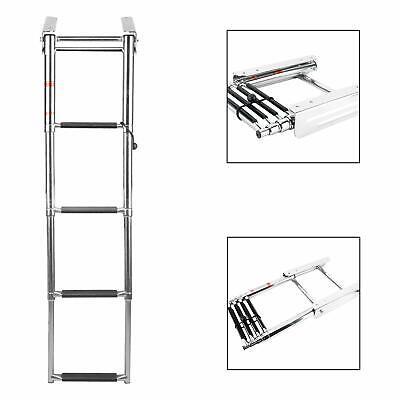 Under Platform Boat Boarding Ladder Telescoping Ladder Slide Mounted Boat Ladder