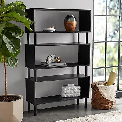 Modern Style 3 Shelf Bookcase Storage Display Unit Bookshelf Black Furniture Black 3 Shelf Bookcase