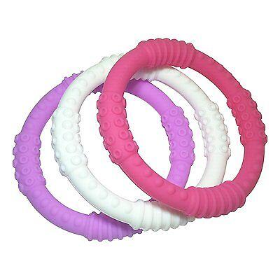 Teething Ring 3 Pack - mooi baby - Baby Teething Rings - BPA-Free, Non-Toxic