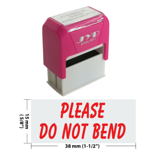 """Please Do Not Bend"" Self Inking Rubber Stamp - JYP 4911R-10  RED INK"