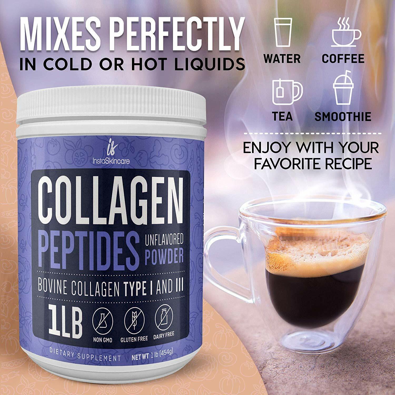 ❤Premium Collagen Peptides Powder Hydrolyzed Anti-Aging Protein 1 LB 6