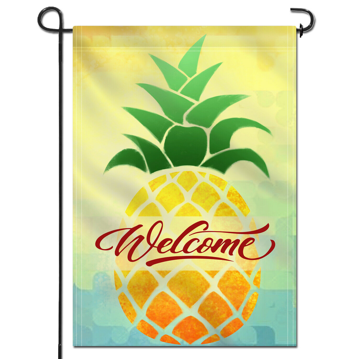 double sided cartoon pineapple welcome spring summer
