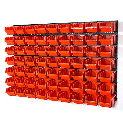 69 teiliges Wandregal Lagerregal Stapelboxen Orange POP Serie Gr. 3 Wandregal