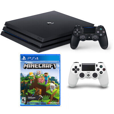 PS4 Pro W/Minecraft & Second Controller Bundle - White [Brand New]