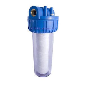 Nuovo contenitore filtro acqua attacchi 1 con cartuccia for Atlas filtri anticalcare