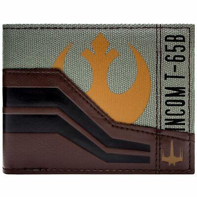 NEW OFFICIAL STAR WARS FORCE AWAKENS BROWN ID & CARD BI-FOLD WALLET
