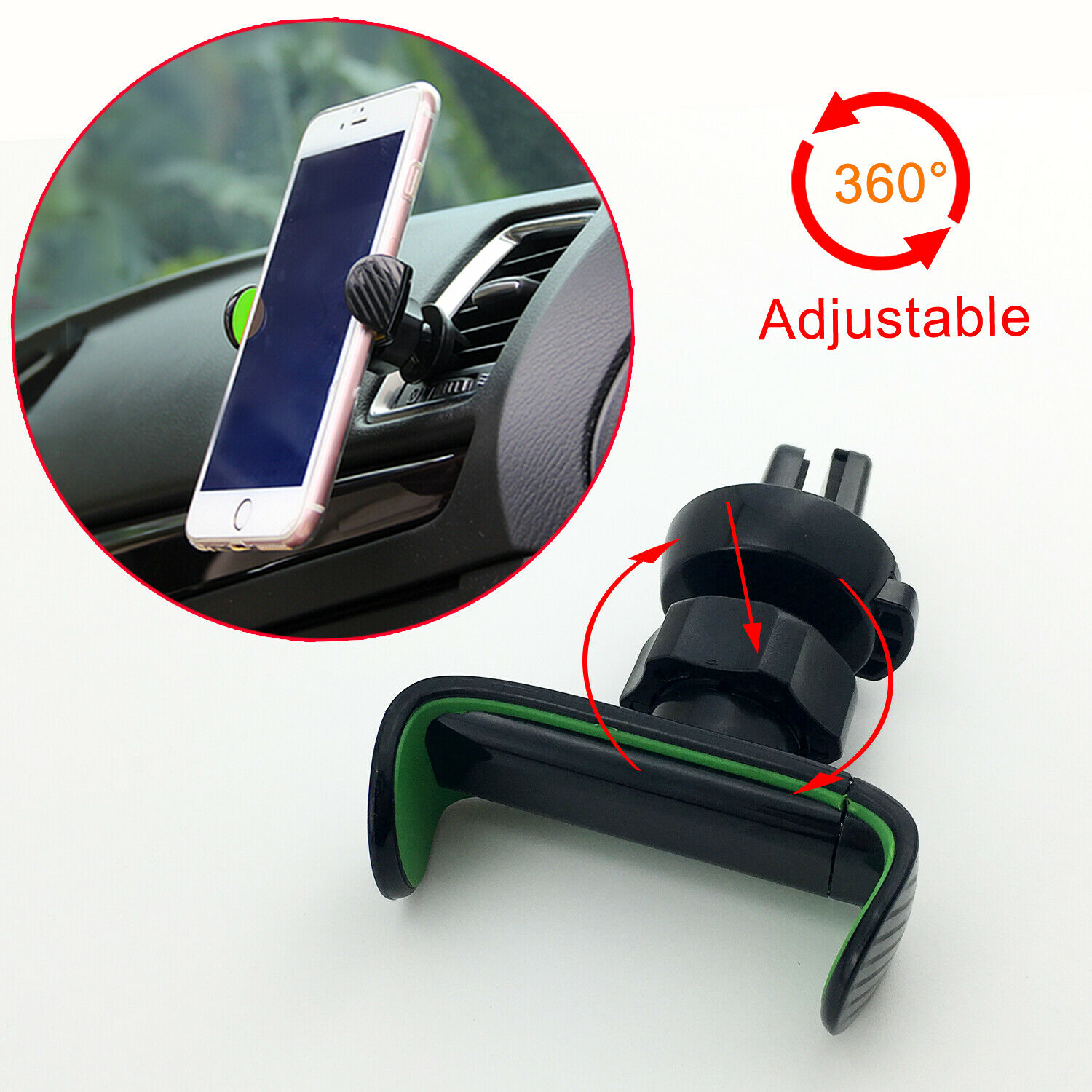 Car Mobile Cell Phone GPS Holder Stander 360° Bracket Air Vent Mount Accessories