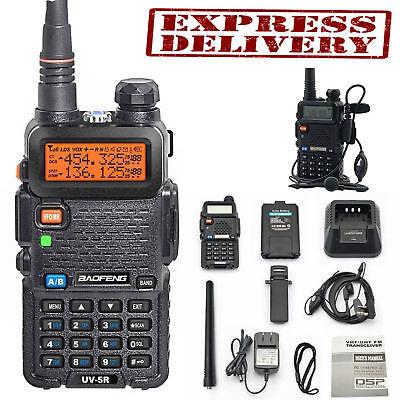 Police Radio Two Way Scanner Transceiver Handheld Fire Portable F-Antenna HAM US