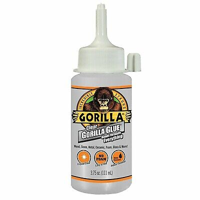 2 - 3.75 Gorilla Glue 4537503 Crystal Clear Glue with Non-Foaming Formula