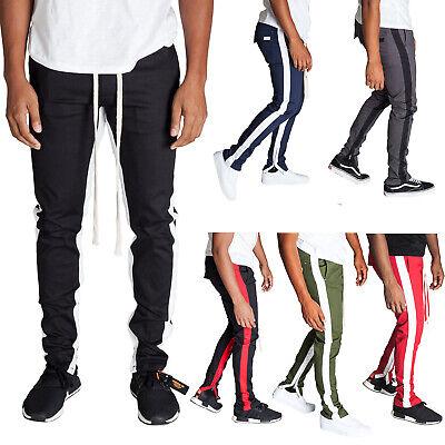 Kayden.k Skinny hipster Long drawstring Stretch Twill Stripe Ankle Zip Pants ()