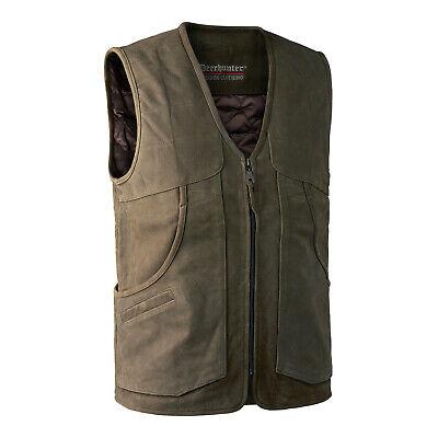Deerhunter Strasbourg Leather Waistcoat Country Hunting Shooting RRP£259.99