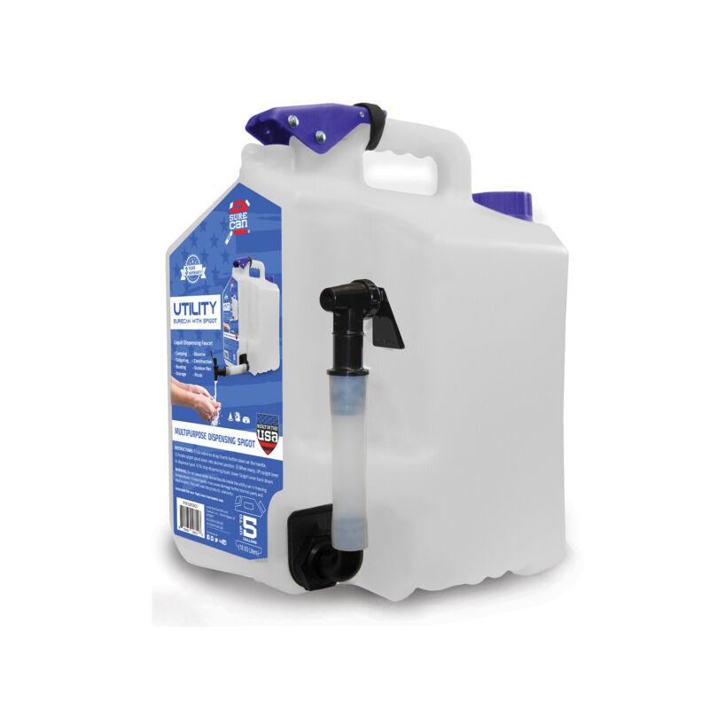 SureCan SUR5SU1 Camping Portable Water Station 5 Gallon Utility Tank with Spigot