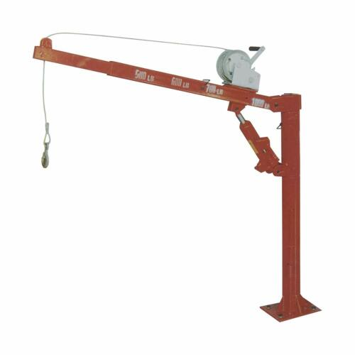 1000LB Truck Hydraulic Crane & Winch: Hoist Lift Cherry Picker 1/2 Ton Pickup