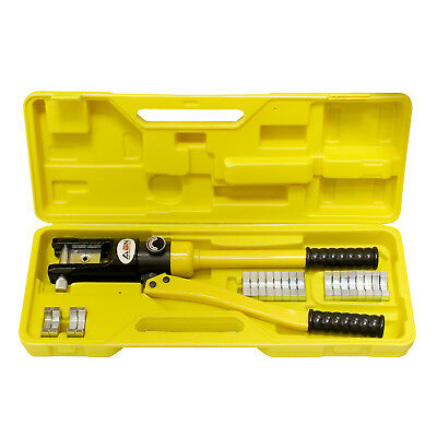 Abn Hydraulic Crimper 16 Ton Cable Crimping Tool With 11 Crimper Dies