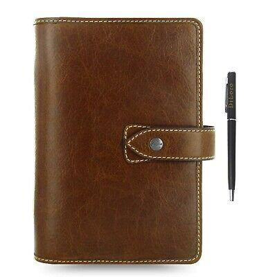 Filofax Malden Leather Personal Ochre Organizer Agenda 2020 Calendar Bundle W...