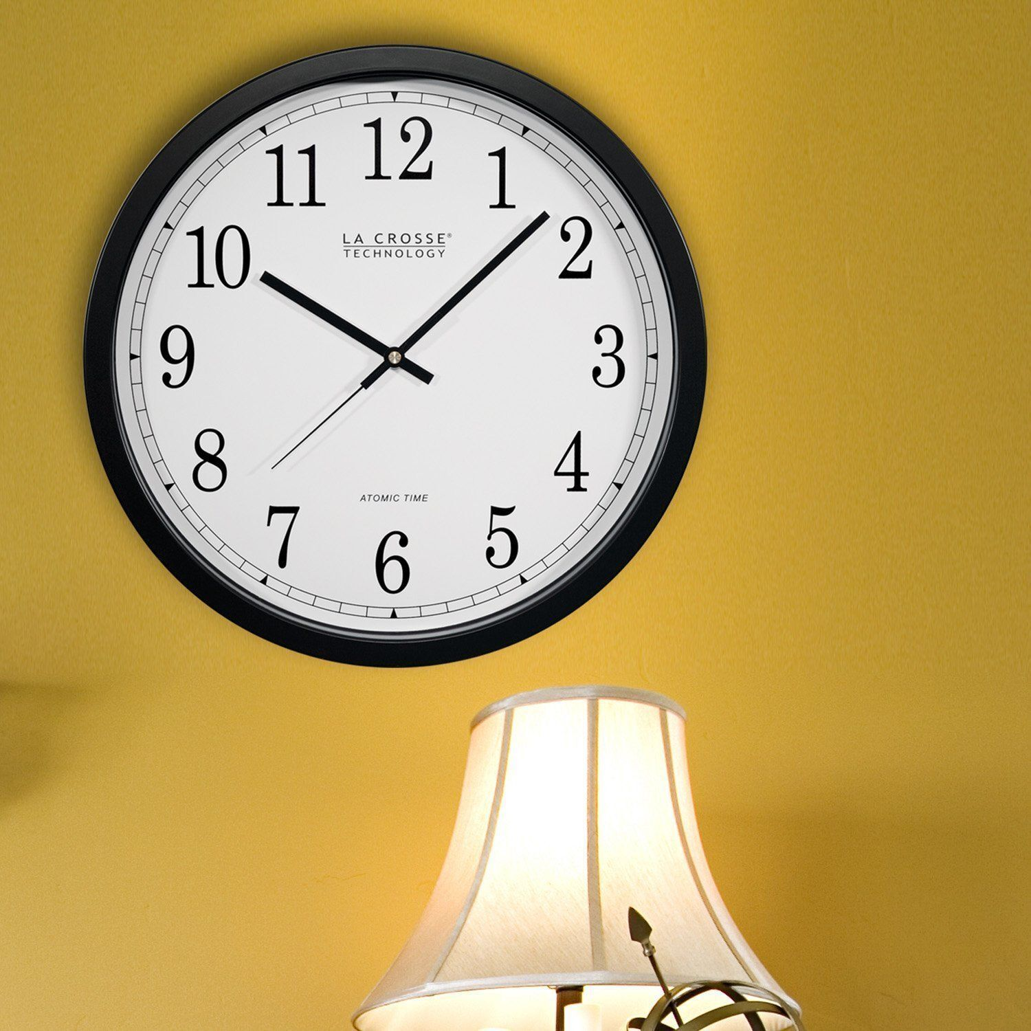 Round 14in Quartz Wall Clock Analog Atomic Living Room Home