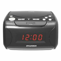 Sylvania Alarm Clock Radio with CD Player and USB Charging Note