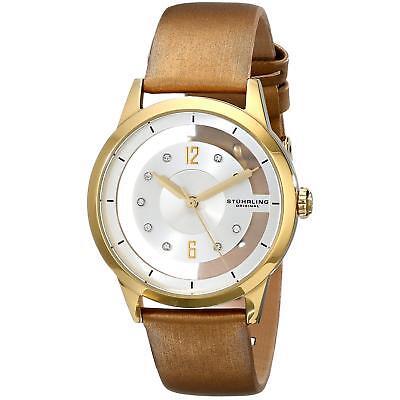 Stuhrling Winchester 946L Women's 36mm Calfskin krysterna Crystals Watch 946L.03