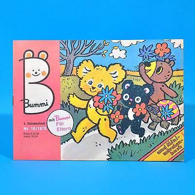 DDR Bummi 19/1976 Kinderzeitschrift 1. Oktoberheft Geburtstag Kindergarten T