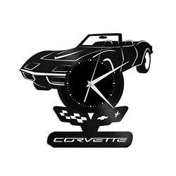 Corvette Vinyl Wall Clock Unique Gift for Car Lovers Bedroom Home Decoration