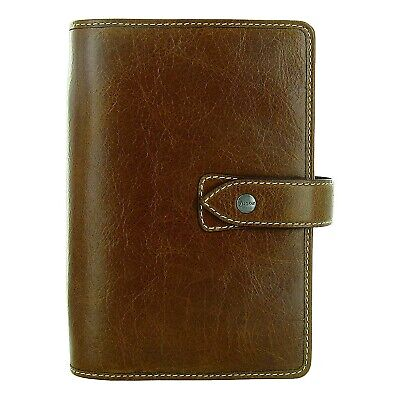 Filofax Weekly Daily Planner Malden Ochre Personal Size Leather Organizer 2021