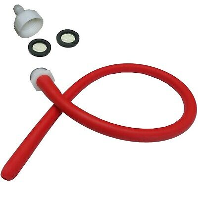 Enema Kit Shower Tubing Anal Cleaning Reusable Douche Red Hose Nozzle (19 in)