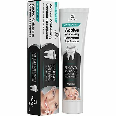 Dental Expert Active Whitening Charcoal Toothpaste, Removes Bad Breath, Mint