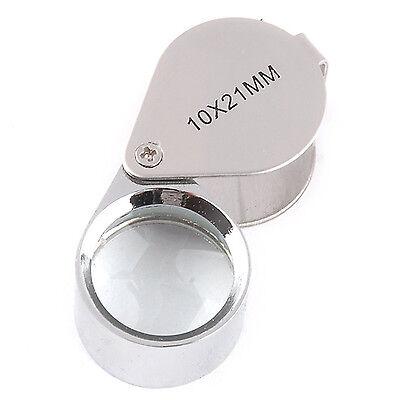 10 Fach Lupe Taschenlupe Vergrößerungsglas für Uhrmacher Juwelier Lupen 21mm