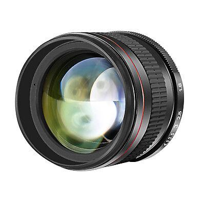 Neewer 85mm f/1.8 Portrait Manual Focus Telephoto Lens for Canon EOS 80D 70D 60D