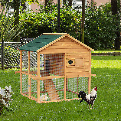 Kleintierstall Hühnerstall Hühnerhaus Hasen Hühnerkäfig Käfig Freigehege Holz