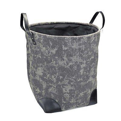 DALIX Washed Dyed Canvas Laundry Tote Hamper Sturdy Stylish