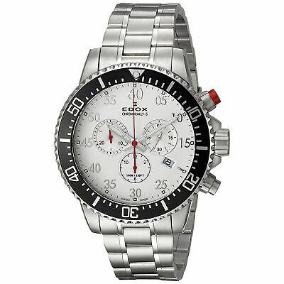 Edox 102273MABN Men's Chronorally-S  Silver-Tone Quartz Watch