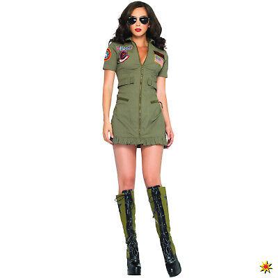 Damen Kostüm sexy Kampfpilotin Ariana Gr. 36-46 Kleid Pilotin - Kampfpilotin Kostüm