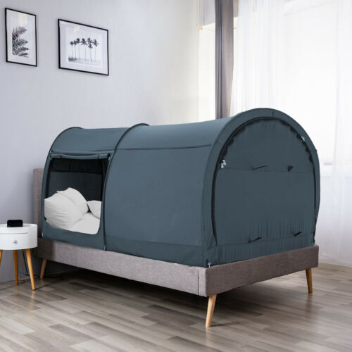 Alvantor Bed Sleeping Portable Tent Private Space Canopy Charcoal Queen Size