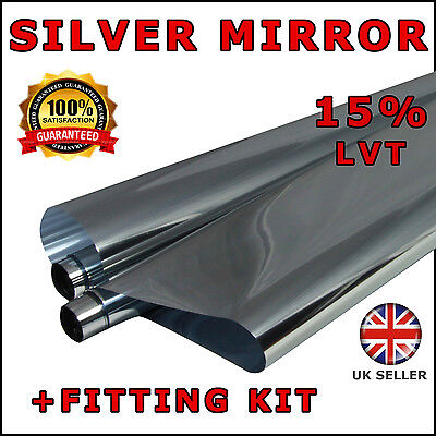 6M x 76cm Car Auto Van Chrome Silver Window Tint Film OneWay Mirror Tinting Foil