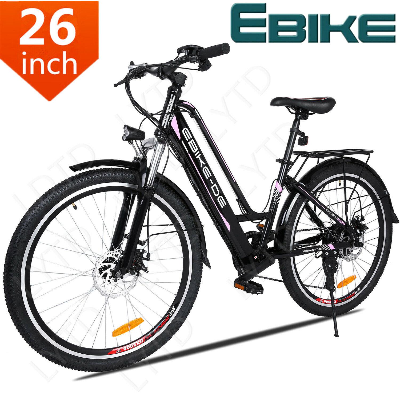EBIKE-DE 26 Zoll Elektrofahrrad Citybike Fatbike Pedelec Fahrrad 36V 8AH E-Bike