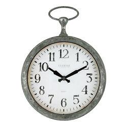404-3828 La Crosse Clock Company 9 Pocket Watch Style Analog Wall Clock