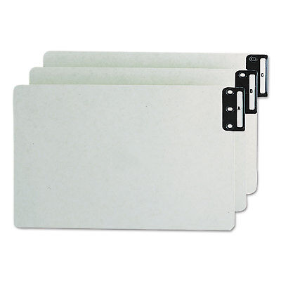 (Smead End Tab Guides Alpha Vertical Metal Tabs Pressboard Legal 25/Set 63276)