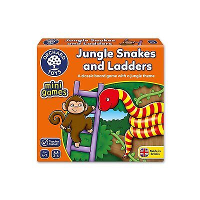 Orchard Toys Jungle Snakes and Ladders Classic Board Game - Ladders Game